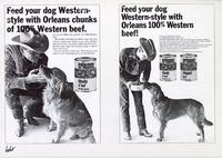 Orleans Dog Food two ads