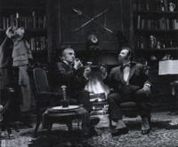 Holmes and Watson toasting