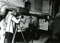 CBS News interviews Ralph Peck  in lab, Chicago, Illinois, 1975
