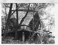 Icosahedron Guest House on Indiana Dunes, Exterior, ca. 1970s
