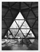 Icosahedron Guest House on Indiana Dunes, Interior, ca. 1970s