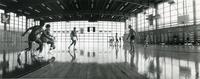 Basketball in Keating Hall, Chicago, Illinois, 1970s