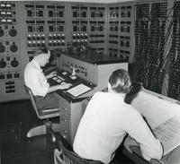 Two Men with A-C Network Calculator, Illinois Institute of Technology, ca. 1951