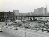 Commons Building site clearance, Illinois Institute of Technology, Chicago, Illinois, ca. 1952