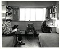 Male students in dormitory room, Illinois Institute of Technology, Chicago, Illinois, ca. 1960s