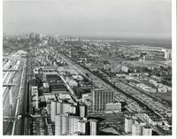 Aerial view of the Illinois Institute of Technology campus, Chicago, Illinois, 1964