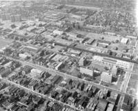 Aerial view of the Illinois Institute of Technology campus, Chicago, Illinois, 1958