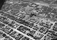 Aerial view of the Illinois Institute of Technology campus, Chicago, Illinois, 1950