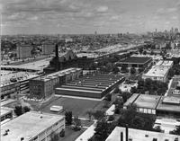 Aerial view of the Illinois Institute of Technology campus, Chicago, Illinois, ca. 1965