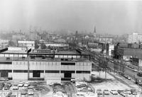 View of the Illinois Institute of Technology campus, looking north, Chicago, Illinois, 1953