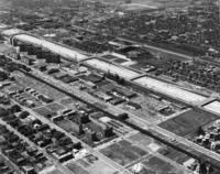 Aerial view of the Illinois Institute of Technology campus, Chicago, Illinois, ca. 1963