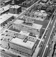 Aerial view of the Illinois Institute of Technology campus, Chicago, Illinois, 1957