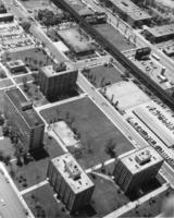 Aerial view of the Illinois Institute of Technology campus, Chicago, Illinois, ca. 1955-1959