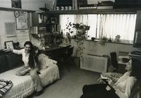 Female students in dormitory room, Illinois Institute of Technology, Chicago, Illinois, 1980