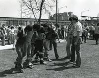 Three-legged race, Illinois Institute of Technology, Chicago, Illinois, 1980s