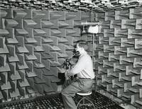 Binaural research experiment, Parmly Foundation for Auditory Research, Illinois Institute of Technology, Chicago, Illinois, ca. 1946-1960