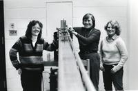 Lois Graham with students, ca. 1980-1985