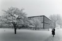 Snow on campus, Illinois Institute of Technology, Chicago, Illinois, 1980s