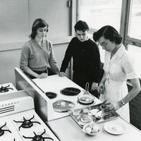 Teacher and students in Home Economics class, Illinois Institute of Technology, Chicago, IL, 1970s