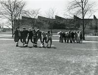 Three-legged race, Illinois Institute of Technology, Chicago, IL, ca. 1970s