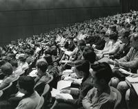 Students in Hermann Hall auditorium, Illinois Institute of Technology, Chicago, Illinois, ca. 1960s