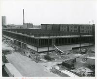Crerar Library during construction, Illinois Institute of Technology, Chicago, Illinois, 1962