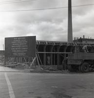 Armour Research Foundation Chemistry Research Building during construction, Illinois Institute of Technology, Chicago, Illinois, ca. 1959