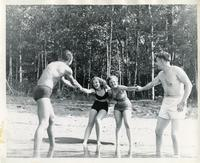 Civil Engineering students at Camp Armour, Vilas County, Wisconsin, ca. 1948
