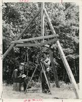 Civil Engineering students at Camp Armour, Vilas County, Wisconsin, ca. 1940-1952