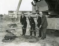 Groundbreaking for Engineering building, Illinois Institute of Technology, Chicago, Illinois, August 29, 1966