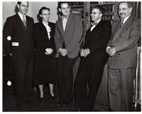 W.A. Kerr, Harriet C. Shurrager, R.A. Dykman, Dr. Phil S. Shurrager, and Dr. David Boder, Department of Psychology, Illinois Institute of Technology, Chicago, Illinois, ca. 1950