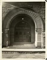 Main Building entrance, Armour Institute of Technology, Chicago, Illinois, ca 1920s