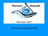 Power Assist Kayak (semester?), IPRO 353: Kayak Motors IPRO 353 Midterm Report Sp06