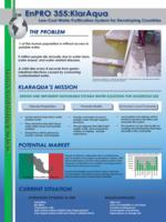 Low-Cost Water Purification System Design & analysis for Applications in Mexico and the US (semester?), IPRO 355: KlarAqua IPRO 355 Poster Sp06