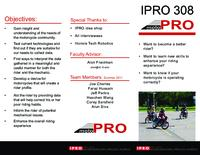 Project InfoMoto (Summer 2011) IPRO 308: Project InfoMoto IPRO308 Summer2011 Brochure