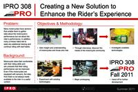 infoMOTO - Information Tools to Enhance the Performance and Experience of Motorcyclists, Summer 2011, IPRO 308: Final poster