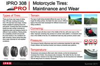infoMOTO - Information Tools to Enhance the Performance and Experience of Motorcyclists, Summer 2011, IPRO 308: Final tire poster