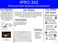 An Affordable Microcontroller for Students (semester?), IPRO 353: Microcontroller Business Development IPRO 353 Poster Sp05