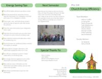 Church & School Energy Efficiency and Financing Program (sequence unknown), IPRO 328 - Deliverables: IPRO 328 Brochure F09