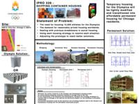 Designing Affordable Housing out of Shipping Containers for Chicago (Semester Unknown) IPRO 339: DesigningAffordableHousingOutOfShippingContainersForChicagoIPRO339Poster1Sp09