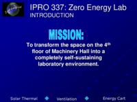 ZERO ENERGY LAB (Semester Unknown) IPRO 337: ZeroEnergyLabIPRO337FinalPresentationSp09