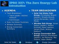 ZERO ENERGY LAB (Semester Unknown) IPRO 337: ZeroEnergyLabIPRO337MidTermPresentationSp09