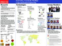 Design of a Genetically Modified Food Database (Semester Unknown) IPRO 318: Food Safety, Genetically-Modified Crops and Protein Engineering IPRO 318 Poster1 Sp08