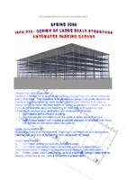 Large Scale Structure Design (Semester Unknown) IPRO 315: Large Scale Structure Design IPRO 315 Brochure Sp08