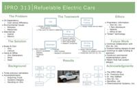 Refuable Electric Cars (Semester Unknown) IPRO 313: RefuableElectricCarsIPRO313PosterSp11