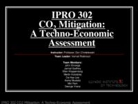CO2 Mitigation:  A Techno-Economic Assessment (semester?), IPRO 302: CO2 Mitigation IPRO 302 IPRO Day Presentation F07
