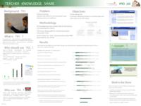 Teacher Knowledge Share (Semester Unknown) IPRO 320: TeacherKnowledgeShareIPRO320PosterSp09