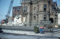 Thomas R. Brown Hall during demolition, Illinois Institute of Technology, Chicago, Ill., 1961