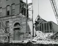 Demolition of Chapin Hall, Illinois Institute of Technology, 1968